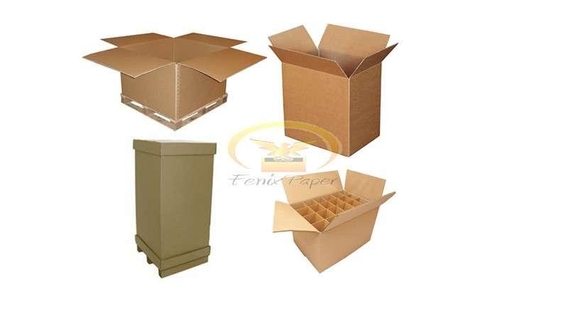 Caixa de papelão correios