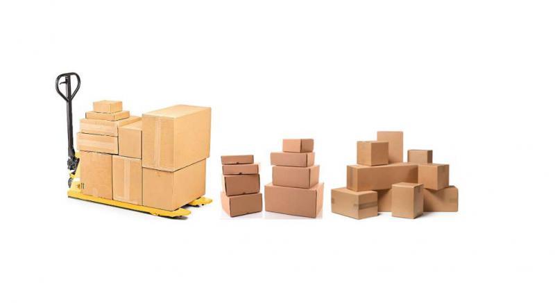 Caixas de papelão para transporte de mercadorias